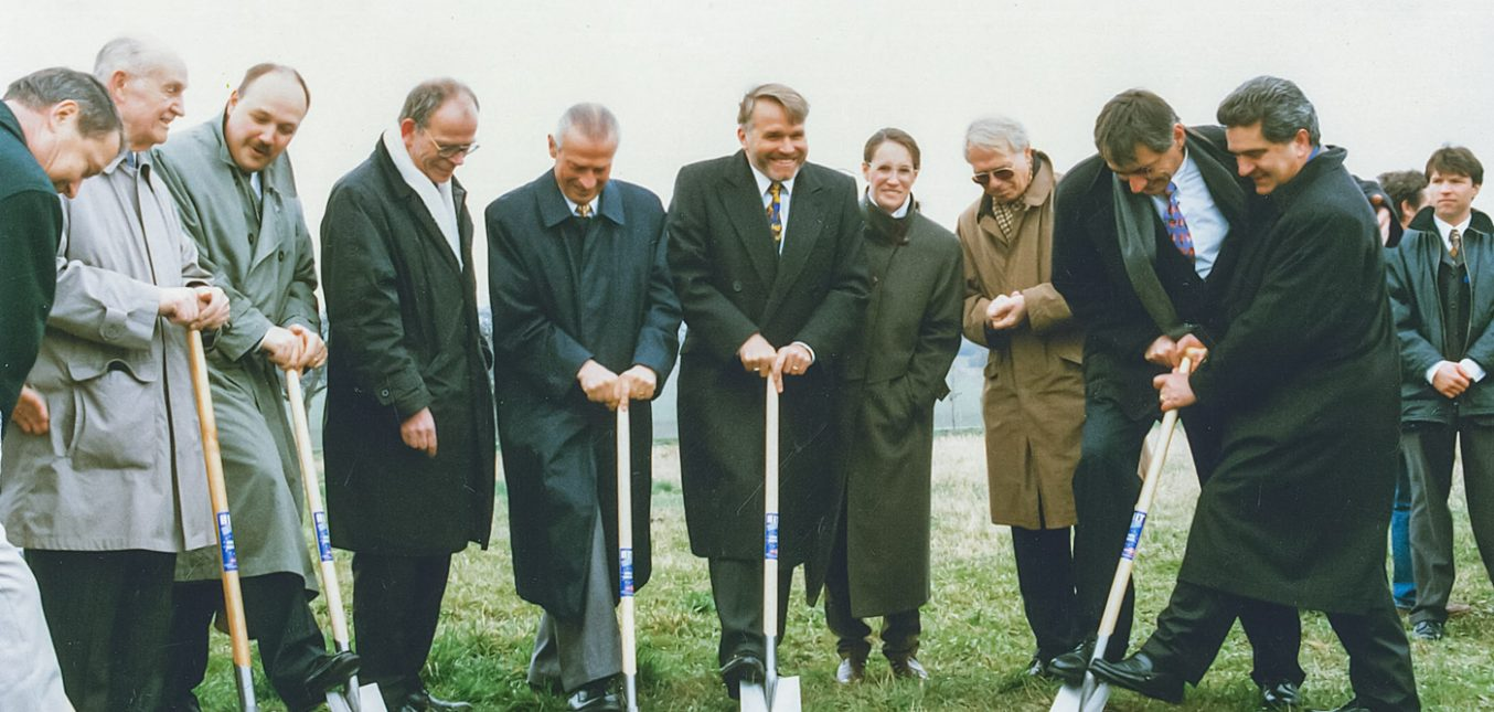 1997 Ground Breaking at Maxitrol EU Headquarters in Thale, Germany