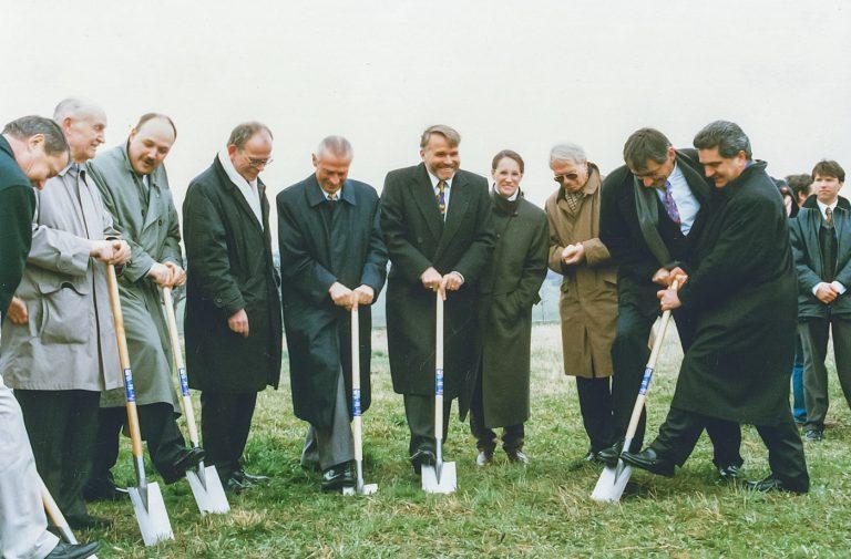 1997 Scavo del terreno nella Sede UE di Maxitrol a Thale, Germania