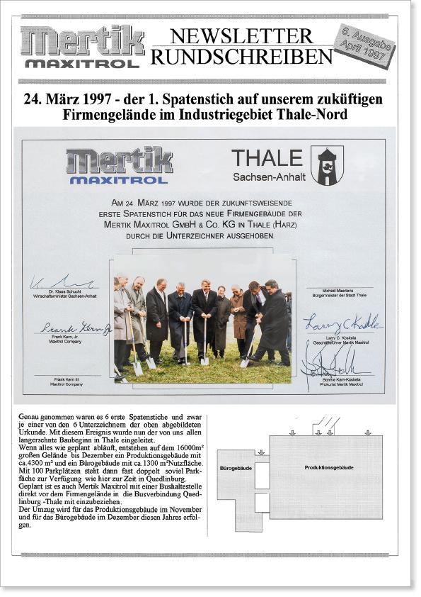 Image of Mertik Maxitrol Newsletter from March 1997